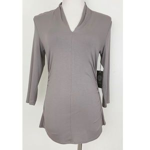 Vince Camuto Shawl neck 3/4 Sleeve Blouse Top
